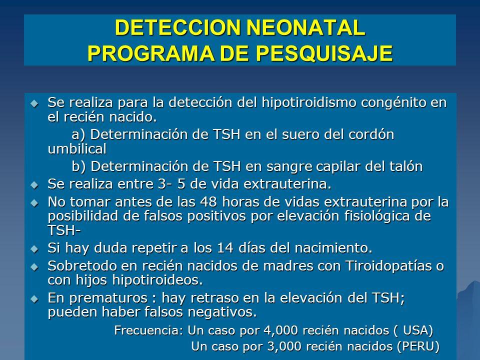 DETECCION NEONATAL PROGRAMA DE PESQUISAJE