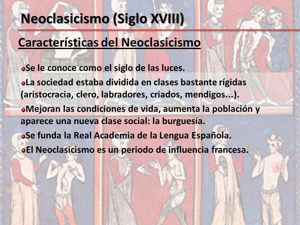 Neoclasicismo (Siglo XVIII)
