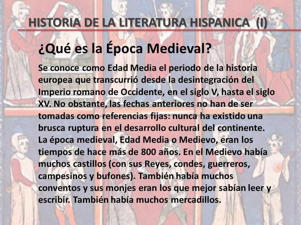 ¿Qué es la Época Medieval
