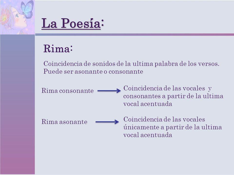 La Poesia: La Poesía: Rima:
