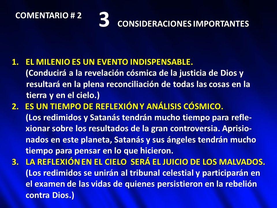 3 CONSIDERACIONES IMPORTANTES