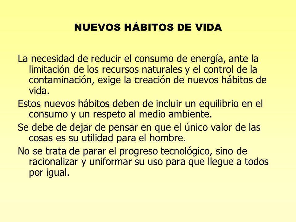 NUEVOS HÁBITOS DE VIDA