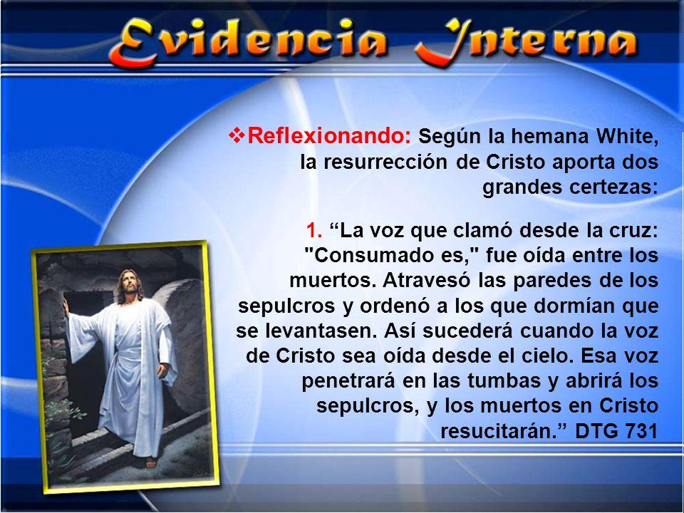Reflexionando: Según la hemana White, la resurrección de Cristo aporta dos grandes certezas: