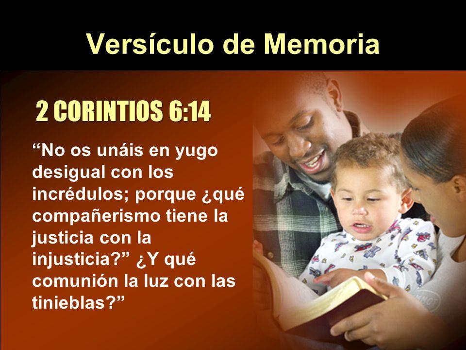 Versículo de Memoria 2 CORINTIOS 6:14