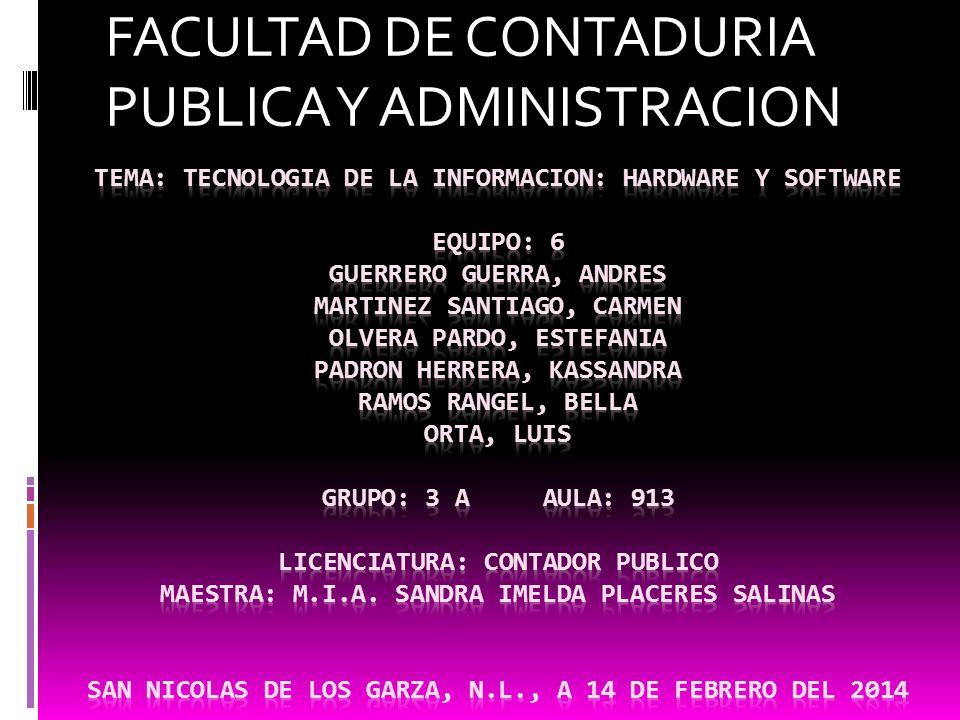 FACULTAD DE CONTADURIA PUBLICA Y ADMINISTRACION