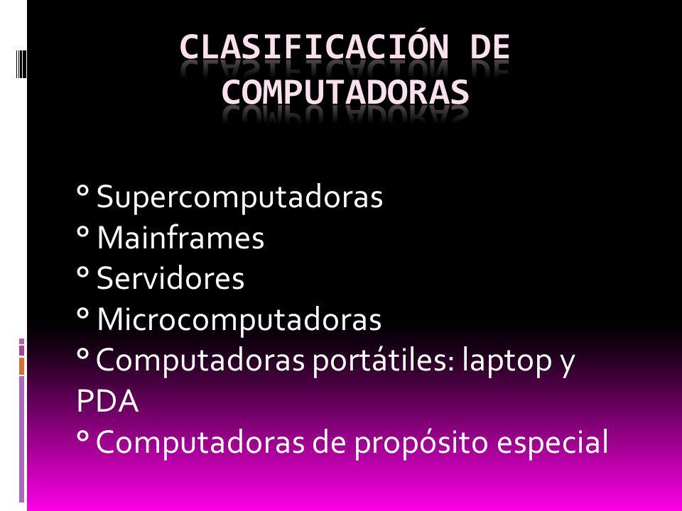 Clasificación de computadoras