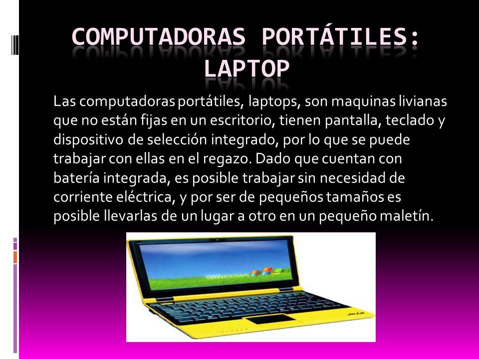 Computadoras portátiles: Laptop