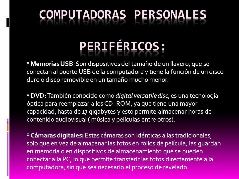 computadoras personales Periféricos: