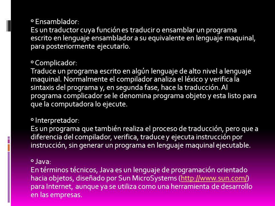 º Ensamblador: