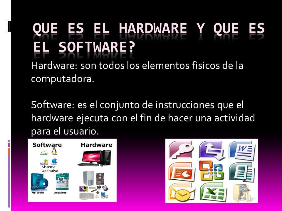 Que es el hardware y que es el software