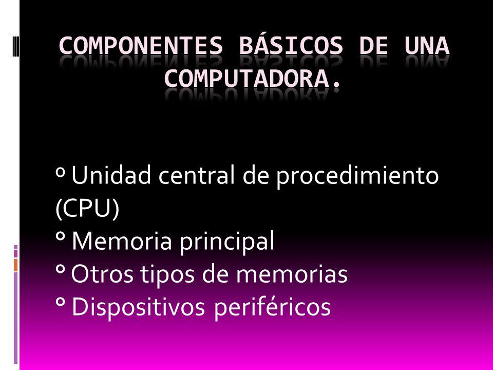 Componentes básicos de una computadora.