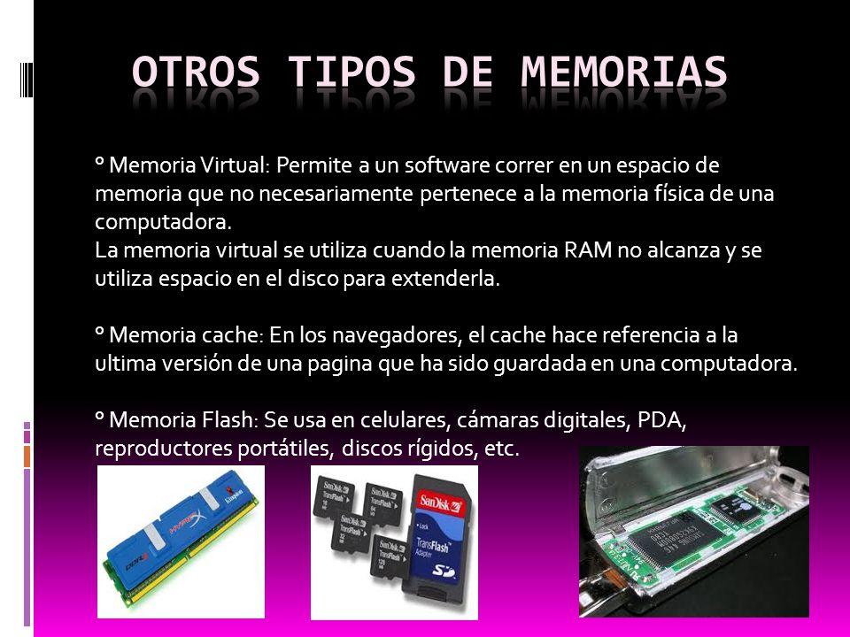 Otros tipos de memorias