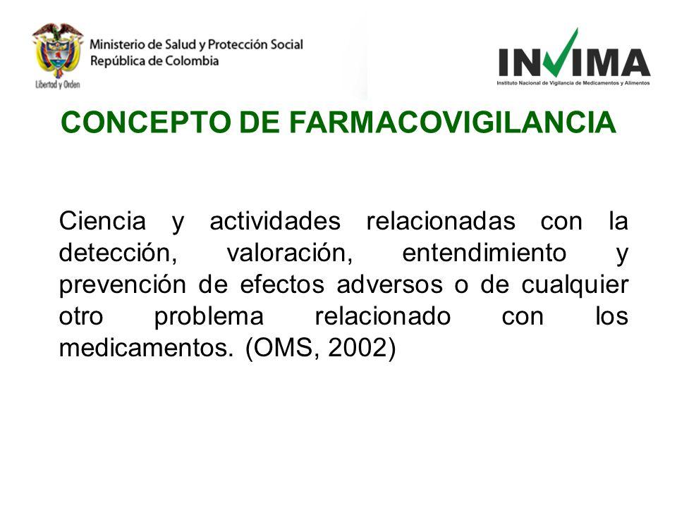 CONCEPTO DE FARMACOVIGILANCIA