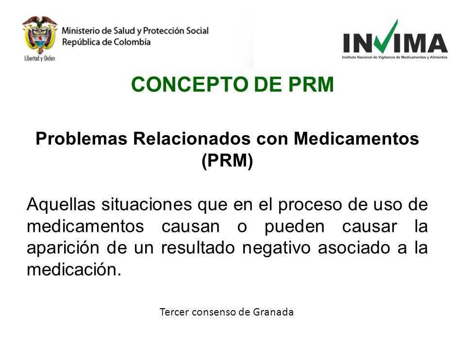 Problemas Relacionados con Medicamentos (PRM)