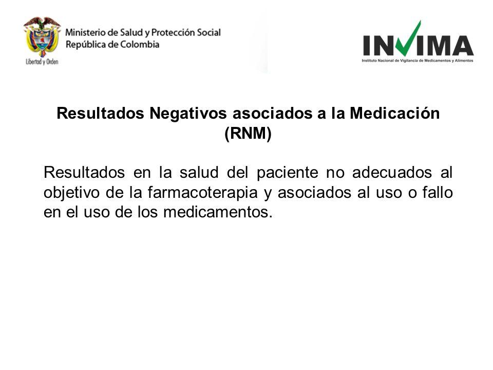 Resultados Negativos asociados a la Medicación (RNM)