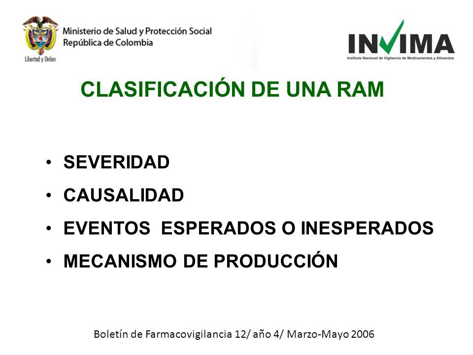 CLASIFICACIÓN DE UNA RAM