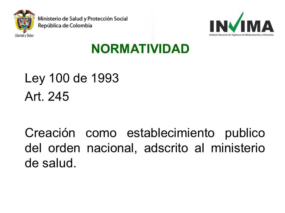 NORMATIVIDAD Ley 100 de 1993 Art.