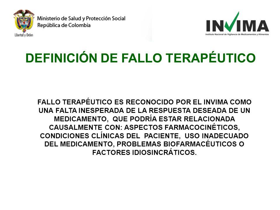 DEFINICIÓN DE FALLO TERAPÉUTICO