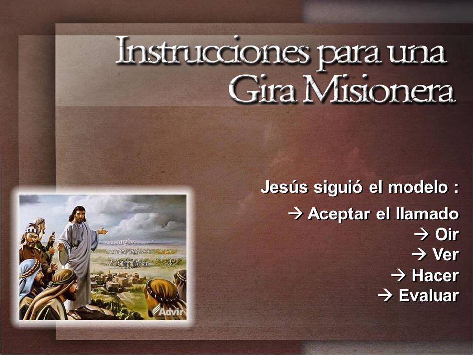 Jesús siguió el modelo :