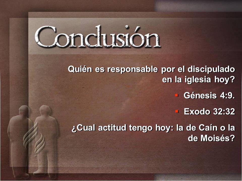 Quién es responsable por el discipulado en la iglesia hoy