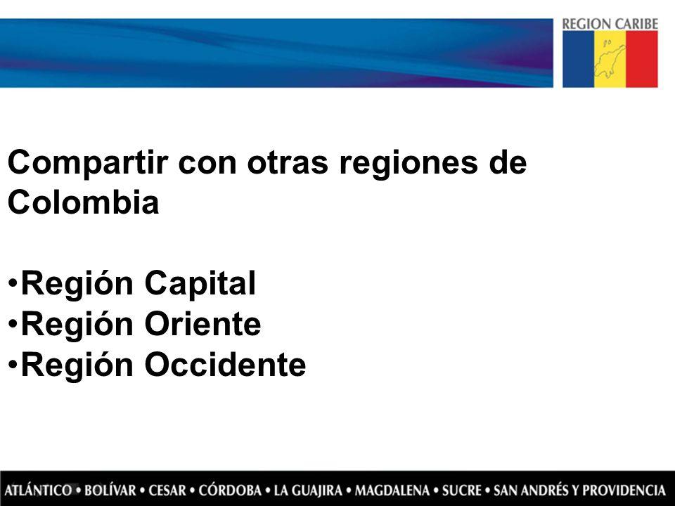 Compartir con otras regiones de Colombia