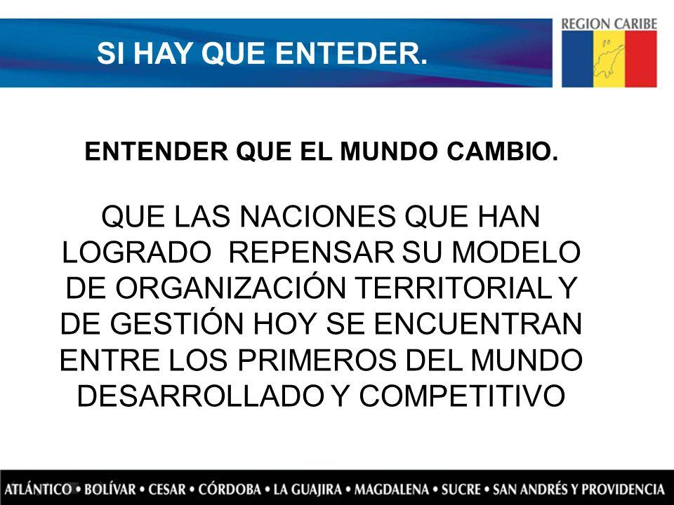 ENTENDER QUE EL MUNDO CAMBIO.