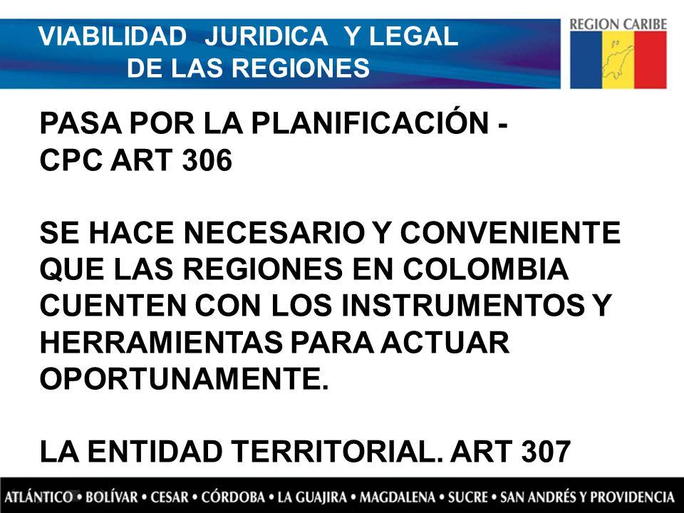 VIABILIDAD JURIDICA Y LEGAL DE LAS REGIONES