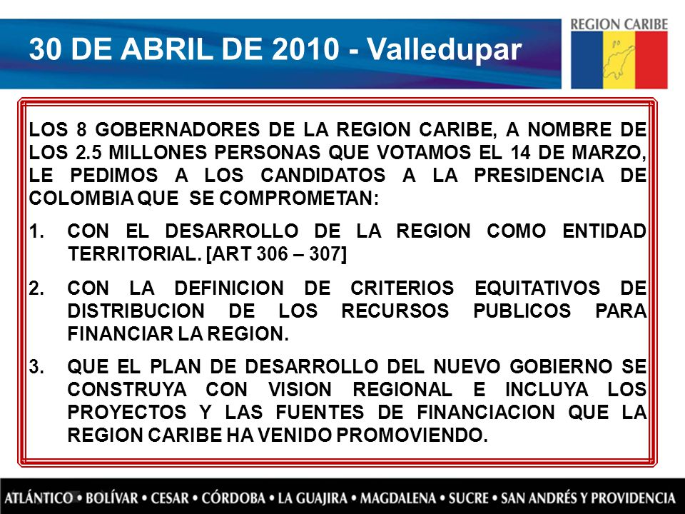 30 DE ABRIL DE 2010 - Valledupar