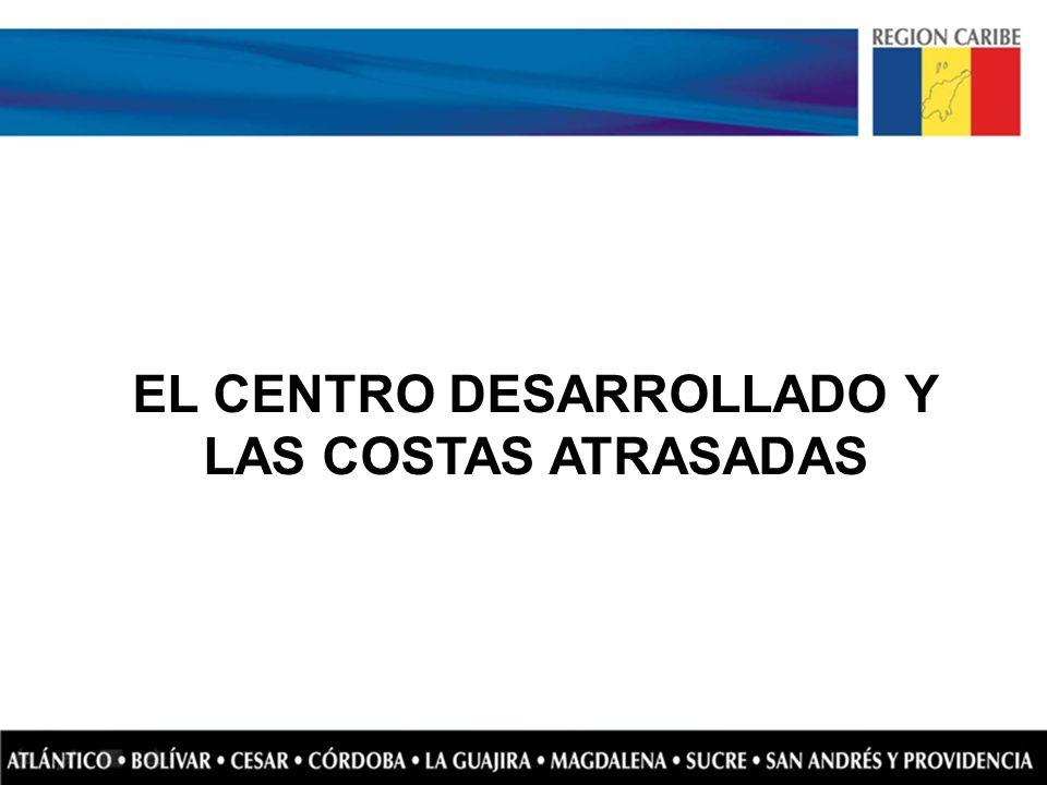 EL CENTRO DESARROLLADO Y LAS COSTAS ATRASADAS