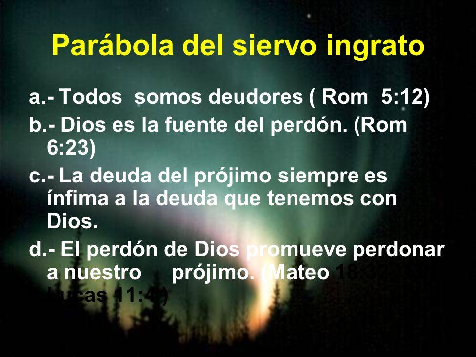 Parábola del siervo ingrato