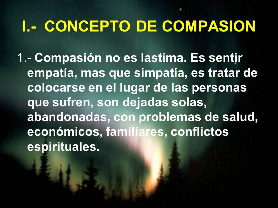 I.- CONCEPTO DE COMPASION