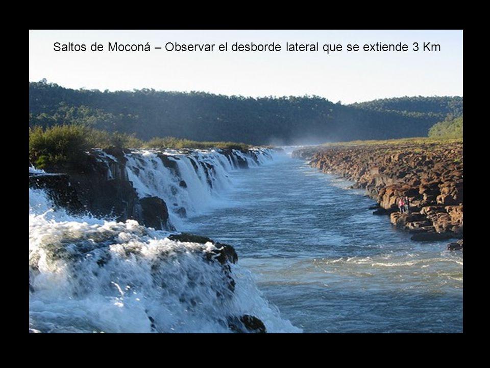 Saltos de Moconá – Observar el desborde lateral que se extiende 3 Km