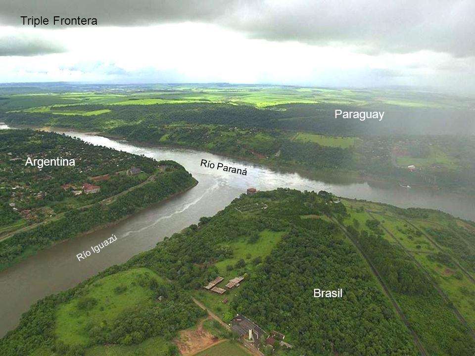 Triple Frontera Paraguay Argentina Río Paraná Río Iguazú Brasil