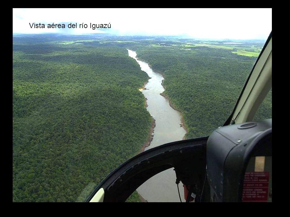 Vista aérea del río Iguazú