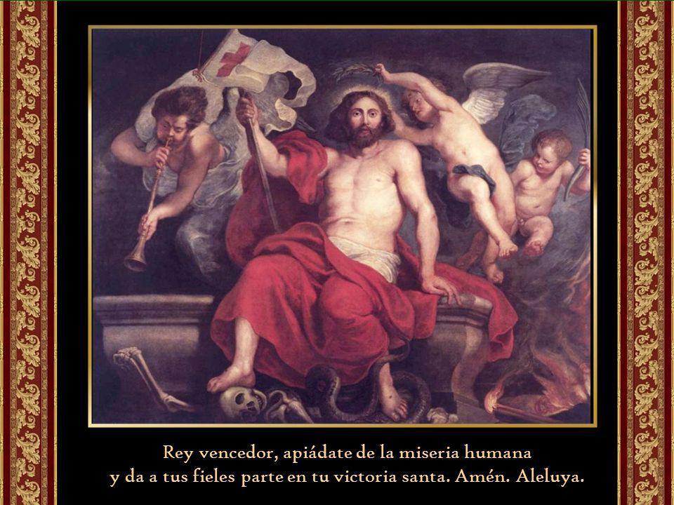 Rey vencedor, apiádate de la miseria humana