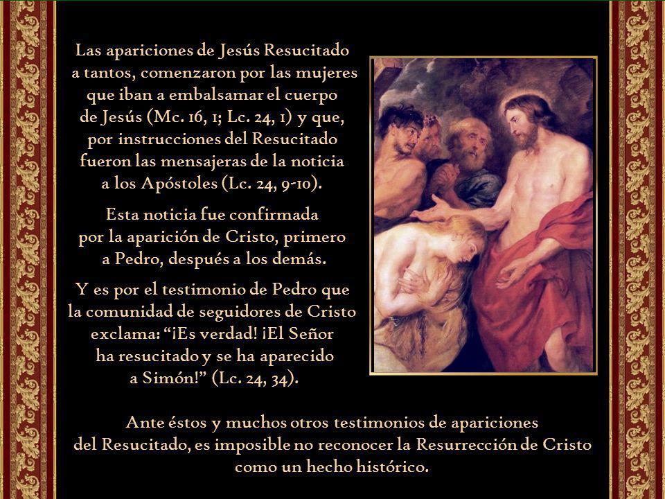 Las apariciones de Jesús Resucitado