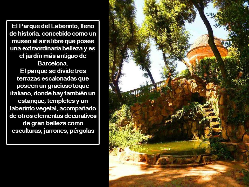 El Parque del Laberinto, lleno de historia, concebido como un museo al aire libre que posee una extraordinaria belleza y es el jardín más antiguo de Barcelona.