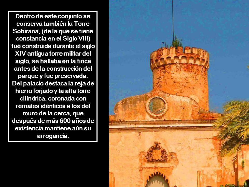 Dentro de este conjunto se conserva también la Torre Sobirana, (de la que se tiene constancia en el Siglo VIII) fue construida durante el siglo XIV antigua torre militar del siglo, se hallaba en la finca antes de la construcción del parque y fue preservada.
