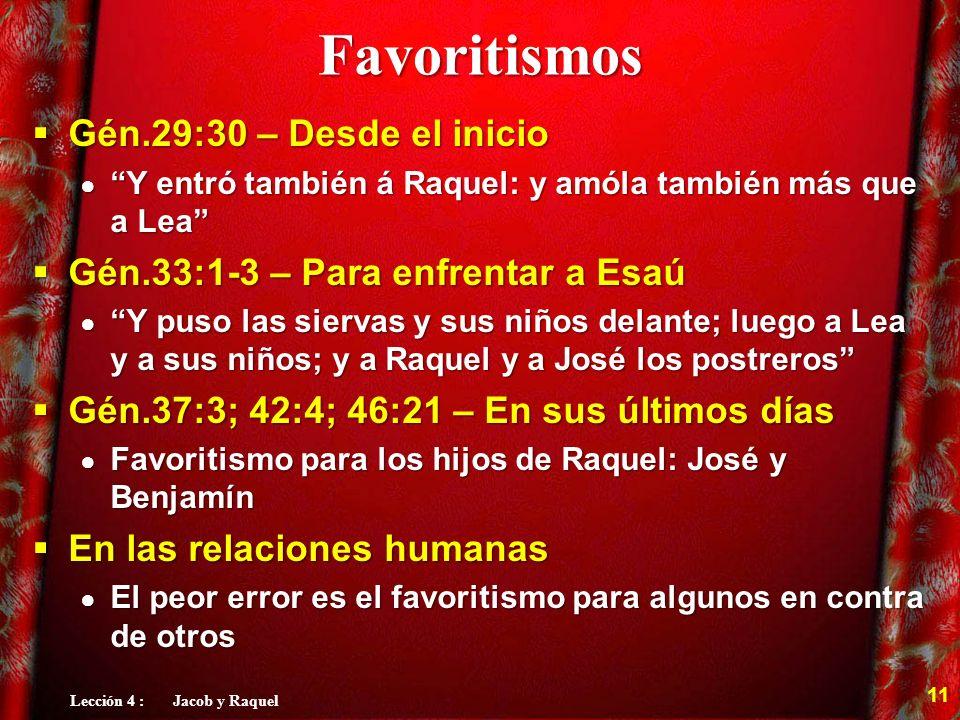 Lección 4 : Jacob y Raquel