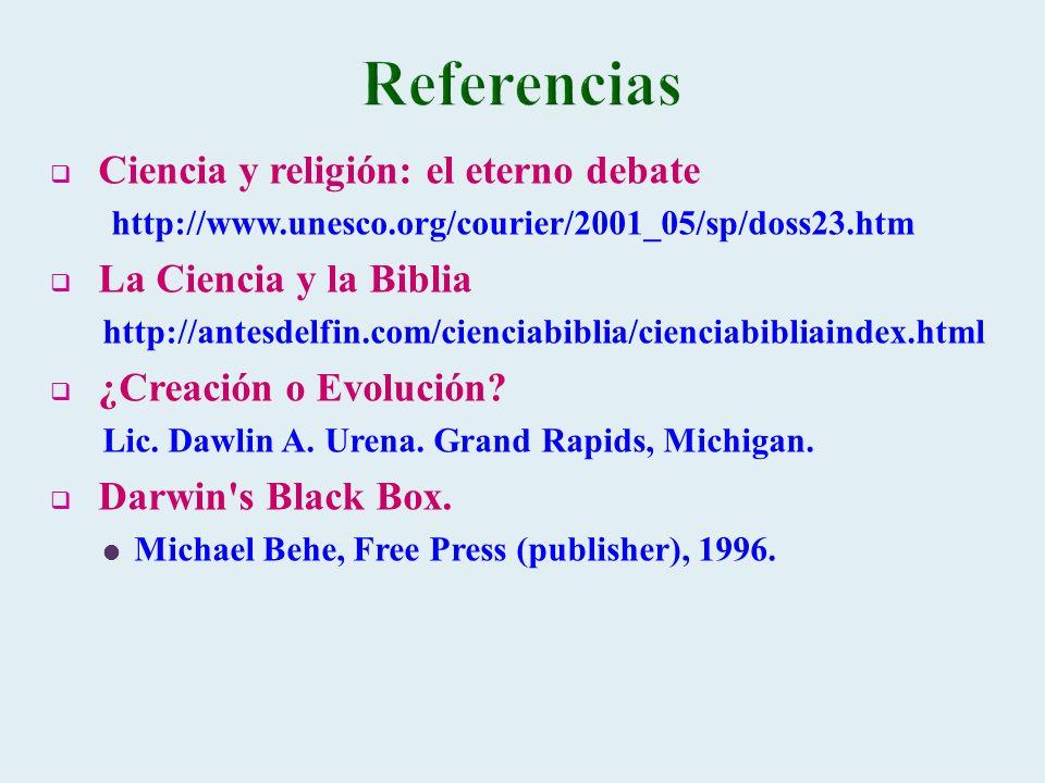 Referencias Ciencia y religión: el eterno debate