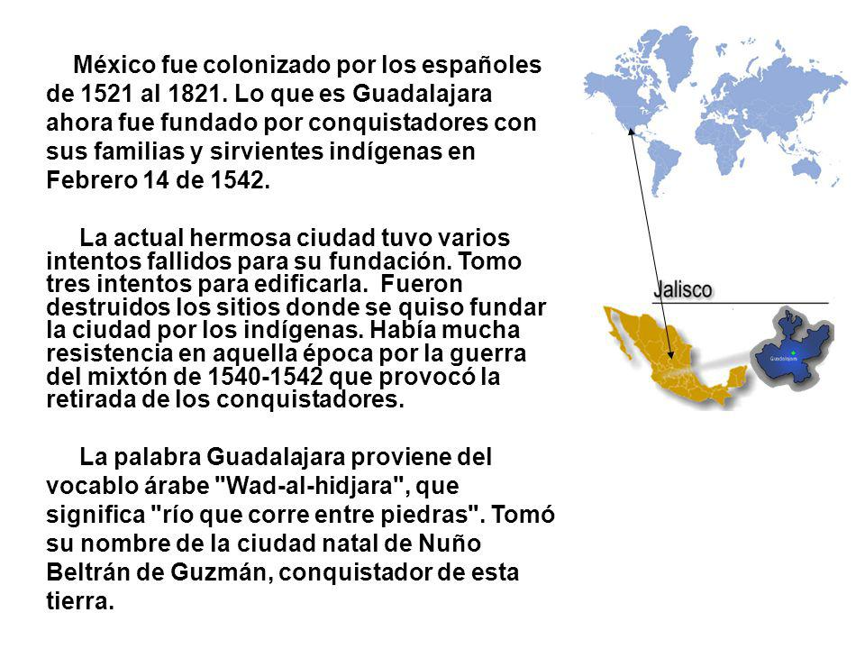 México fue colonizado por los españoles de 1521 al 1821