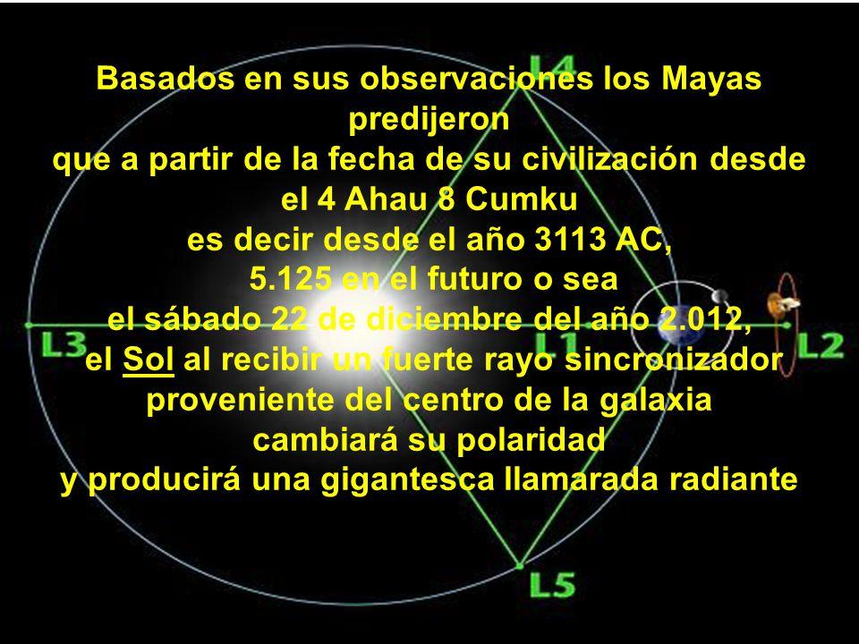 Basados en sus observaciones los Mayas predijeron