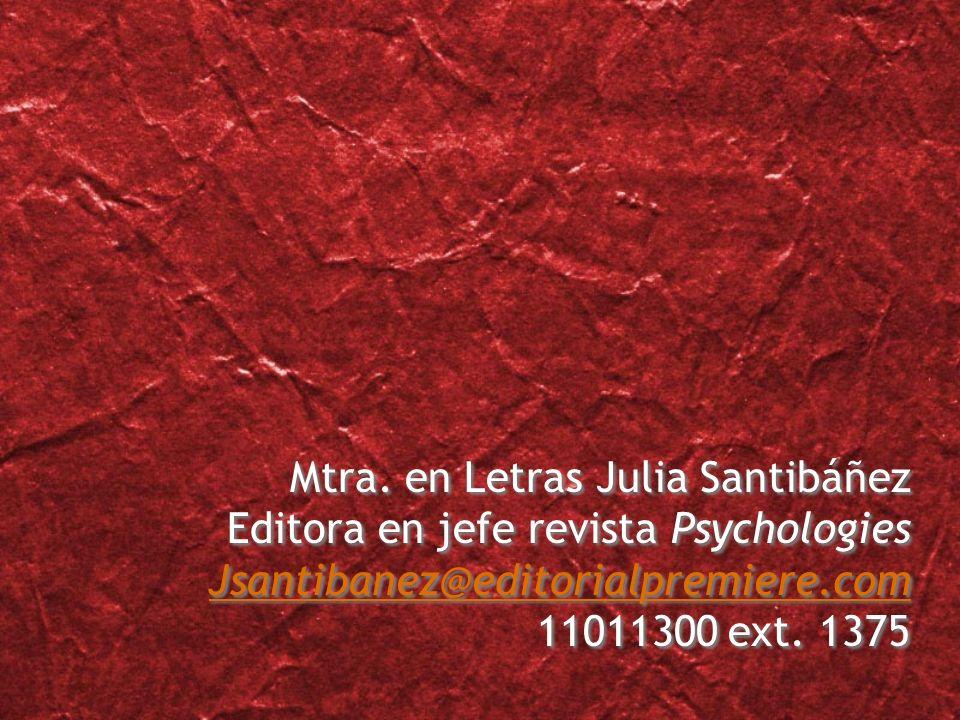 Mtra. en Letras Julia Santibáñez