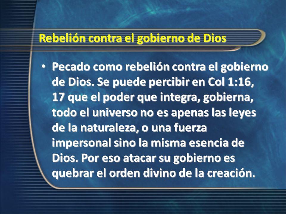 Rebelión contra el gobierno de Dios