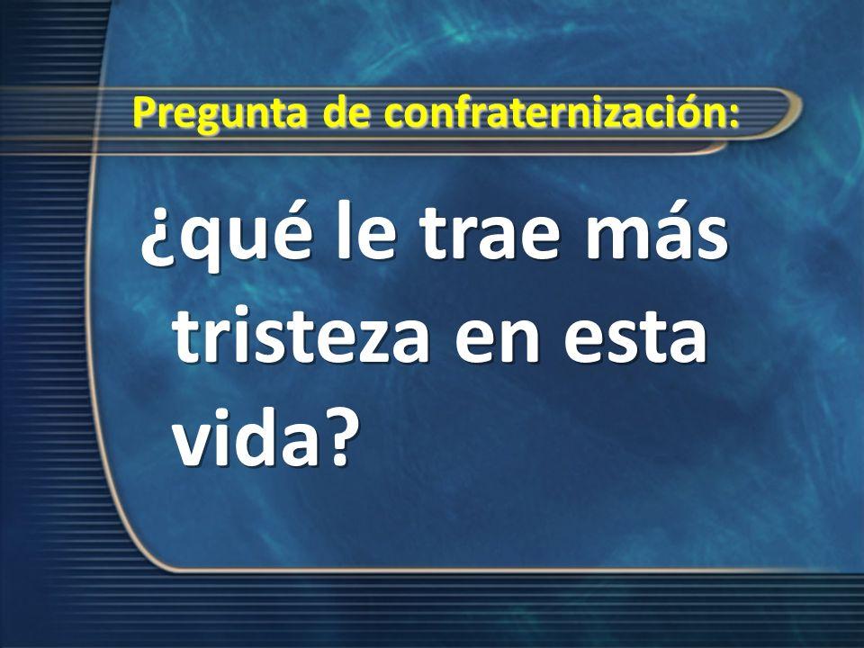 Pregunta de confraternización: