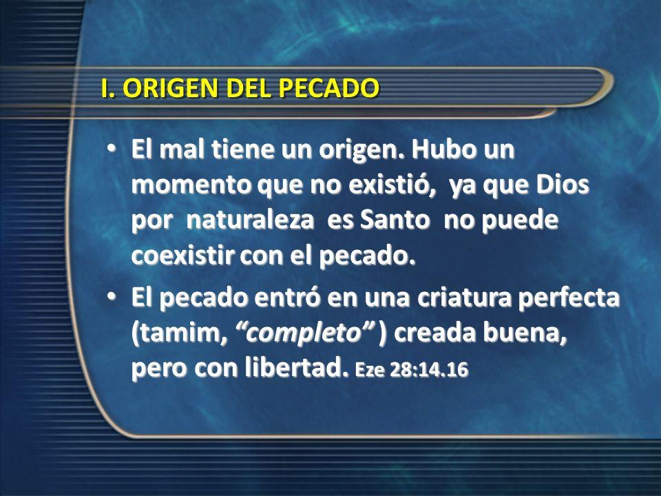 I. ORIGEN DEL PECADO