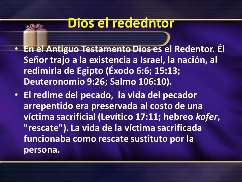 Dios el rededntor