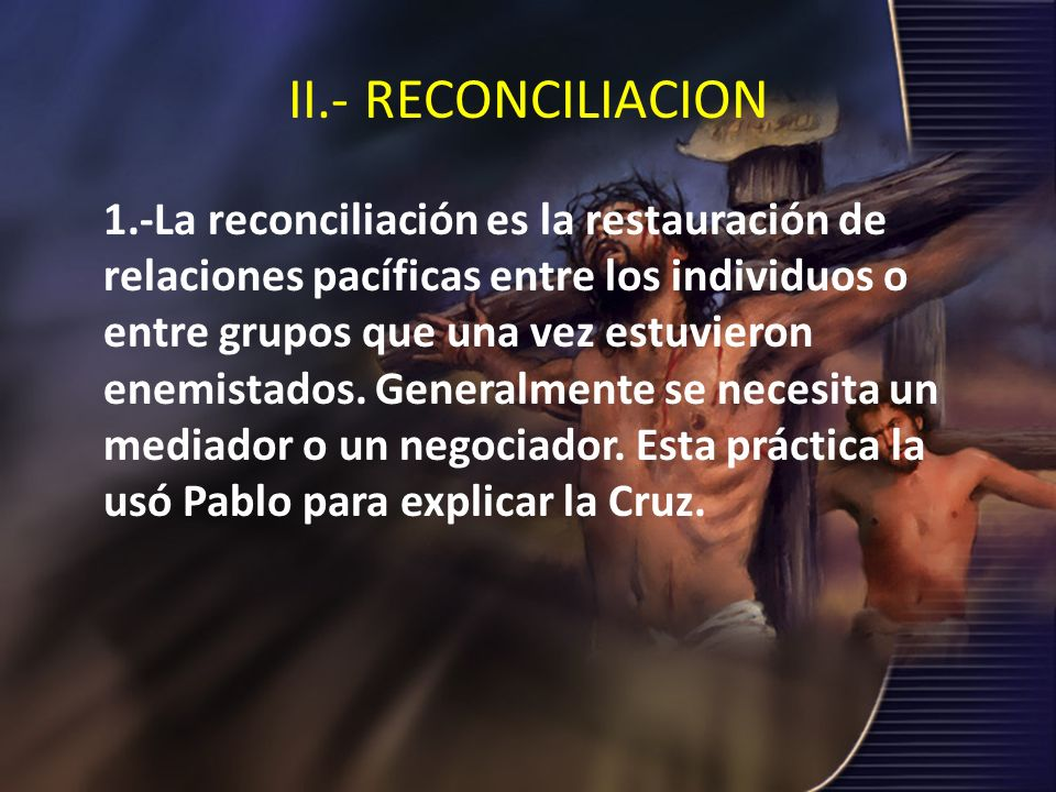 II.- RECONCILIACION