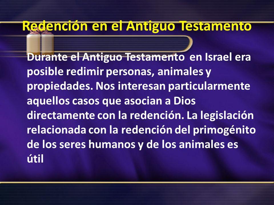Redención en el Antiguo Testamento