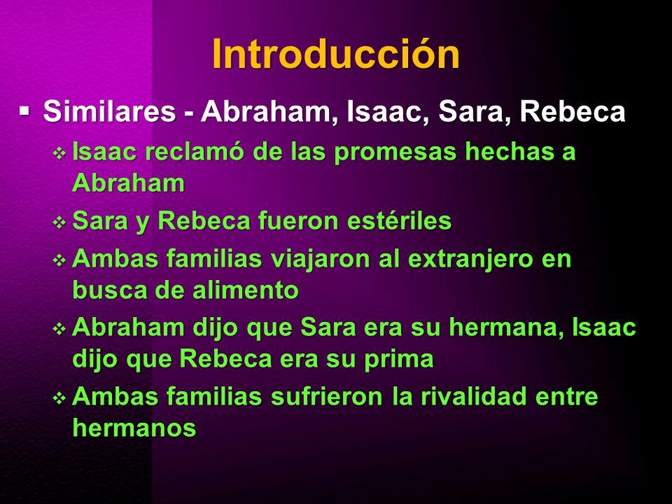 Introducción Similares - Abraham, Isaac, Sara, Rebeca